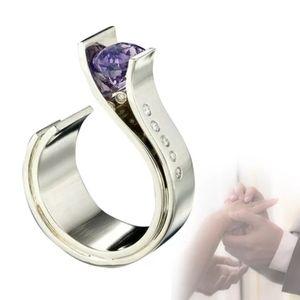 🎀925 Amathyst Diamond Accent Ring